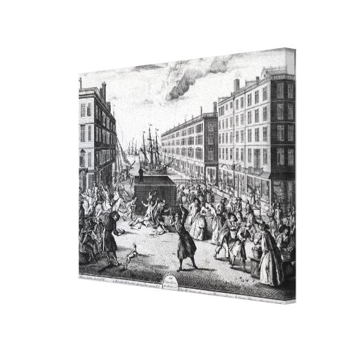 The View and Humours of Billingsgate, 1736 Gallery Wrap Canvas