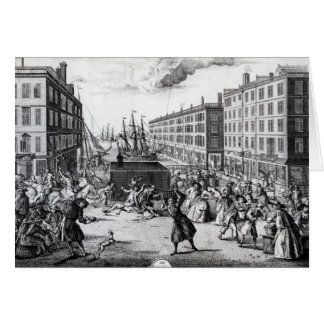 The View and Humours of Billingsgate, 1736 Card