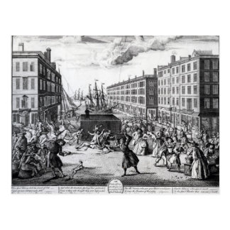The View and Humours of Billingsgate, 1736 Postcard