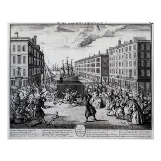 The View and Humours of Billingsgate, 1736 Poster