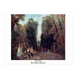 The View By Watteau Antoine Postcard