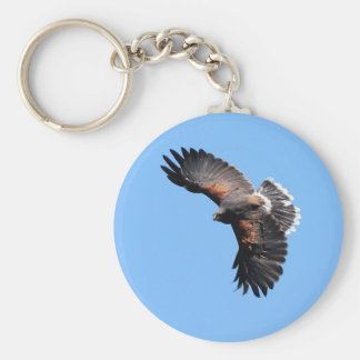 The view from above basic round button keychain
