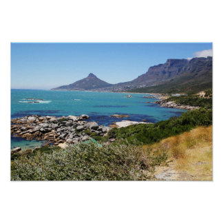 The view from Chapman's Peak, Cape Town Poster