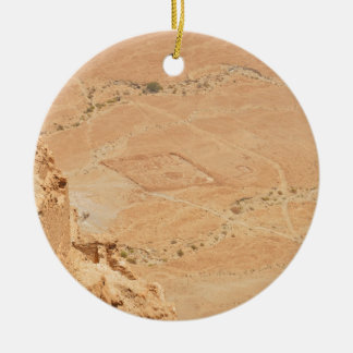 The View From Masada Double-Sided Ceramic Round Christmas Ornament