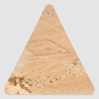 The View From Masada Triangle Sticker