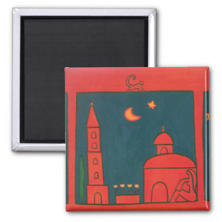 The View from Santo Spirito 2002 2 Inch Square Magnet