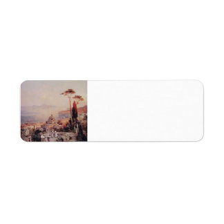 The view from the Balcony by Franz Unterberger Custom Return Address Label