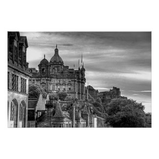 The view from the Scotsman - B&W Poster
