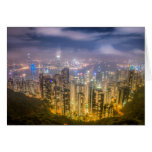 The view of Hong Kong from The Peak Cards