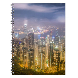 The view of Hong Kong from The Peak Spiral Notebook