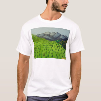 The View of Mount Baldy by Julia Hanna T-Shirt