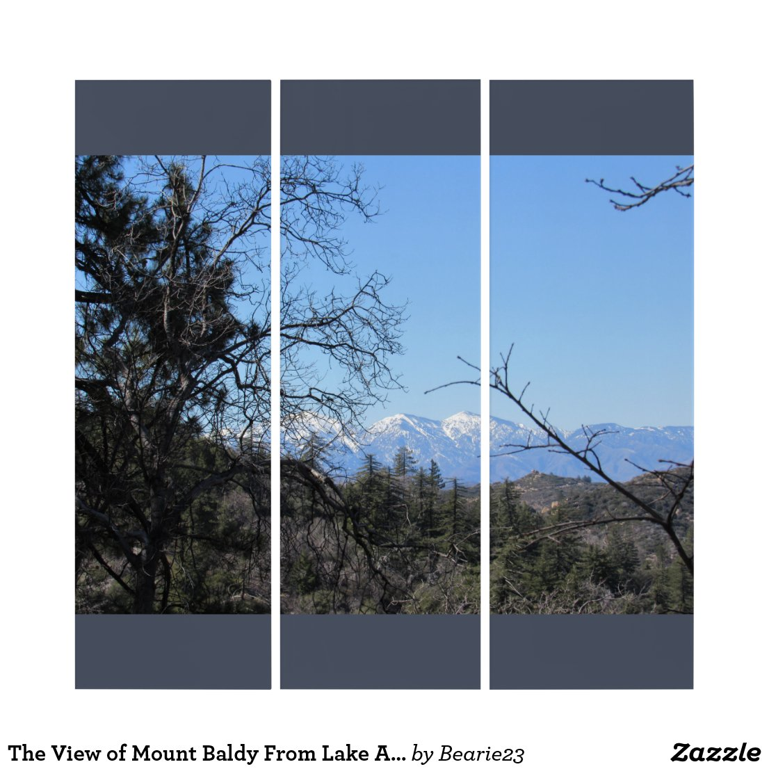 The View of Mount Baldy From Lake Arrowhead Triptych