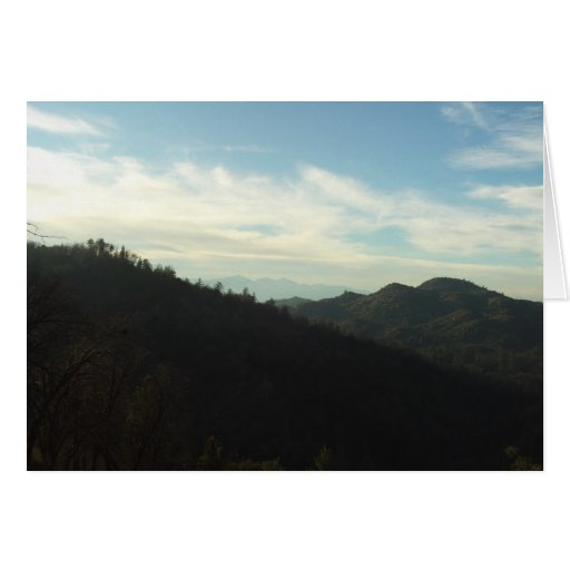 The View of Mount Baldy In The Distance Greeting Card