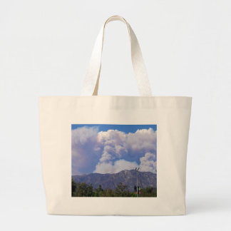 The View of the Hills & Smoke Clouds_ Canvas Bag