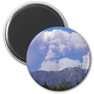 The View of the Hills & Smoke Clouds_ Fridge Magnet