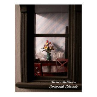 The View Through a Tiny Window Postcard