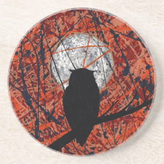 THE VIGIL (Can't Fight The Moonlight ~ Owl theme) Drink Coaster