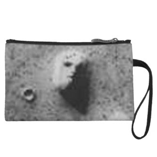 The Viking 1 Orbiter Face on Mars Image (35a72) Wristlet Wallet