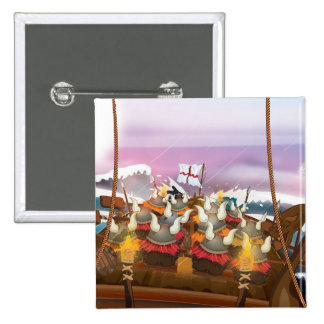 The Vikings 2 Inch Square Button