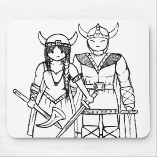 The Vikings - Never Give Up! Mouse Pad