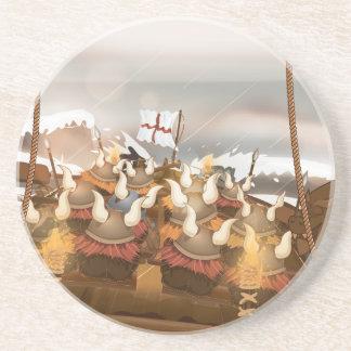 The Vikings Sandstone Coaster
