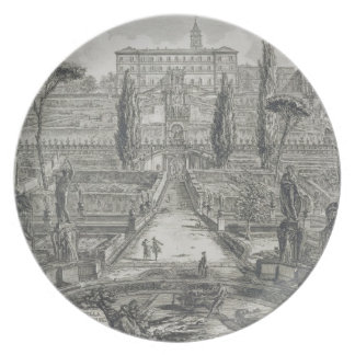 The Villa d'Este at Tivoli (engraving) Dinner Plate