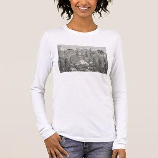 The Villa d'Este at Tivoli (engraving) Long Sleeve T-Shirt