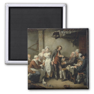 The Village Agreement, 1761 2 Inch Square Magnet