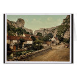 The village and Lion Rock, Cheddar, England classi Cards