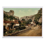 The village and Lion Rock, Cheddar, England classi Post Cards