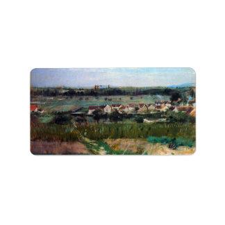 The village at Maurecourt by Berthe Morisot Address Label