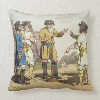 The Village Council, etched by the artist, publish Throw Pillow