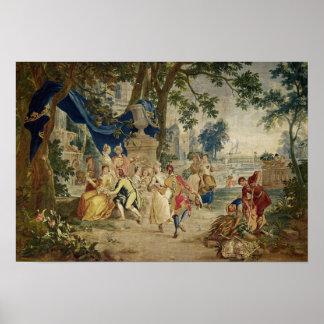 The village Fete after D.Teniers Poster