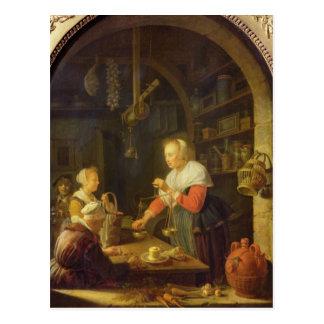 The Village Grocer, 1647 Postcard