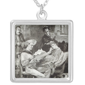 The Village Hero, from 'Leisure Hour', 1891 Silver Plated Necklace