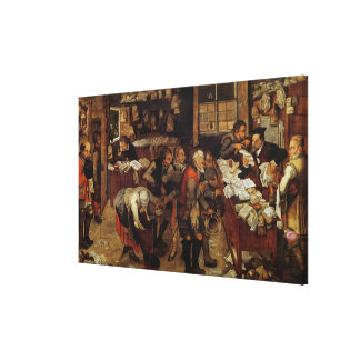 The Village Lawyer, 1621 Stretched Canvas Print