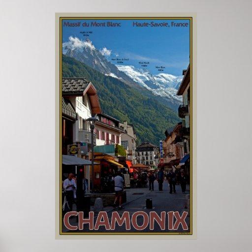 The Village of Chamonix Print