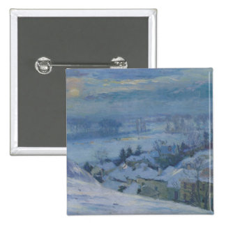 The Village of Herblay under snow, 1895 2 Inch Square Button