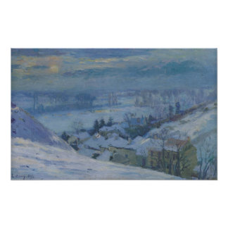 The Village of Herblay under snow, 1895 Poster