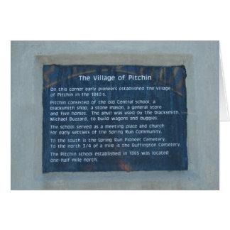 The Village of Pitchin, Iowa Card