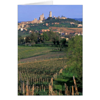 The village of San Gimignano sits in the rolling Card