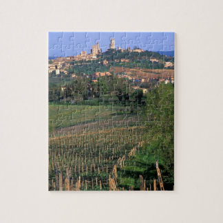 The village of San Gimignano sits in the rolling Jigsaw Puzzle