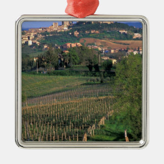 The village of San Gimignano sits in the rolling Metal Ornament