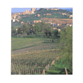 The village of San Gimignano sits in the rolling Notepad