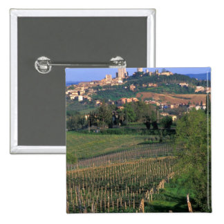 The village of San Gimignano sits in the rolling Pinback Button