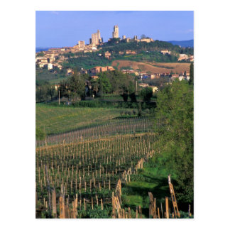 The village of San Gimignano sits in the rolling Postcard