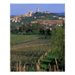 The village of San Gimignano sits in the rolling Poster