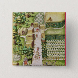 The Village of Secoton Button