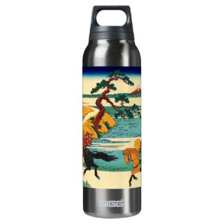 The village of Sekiya on the Sumida River Insulated Water Bottle