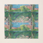 """The village of Torno - 36&quot; x 36&quot; Square Scarf<br><div class=""""desc"""">Torno is a beautiful lakeside village which is situated approximately 5km northeast of Como en-route to Bellagio and looks across the lake to Moltrasio.</div>"""